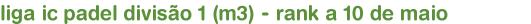 liga ic padel divisão 1 (m3) - rank a 10 de maio