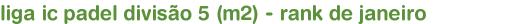 liga ic padel divisão 5 (m2) - rank de janeiro